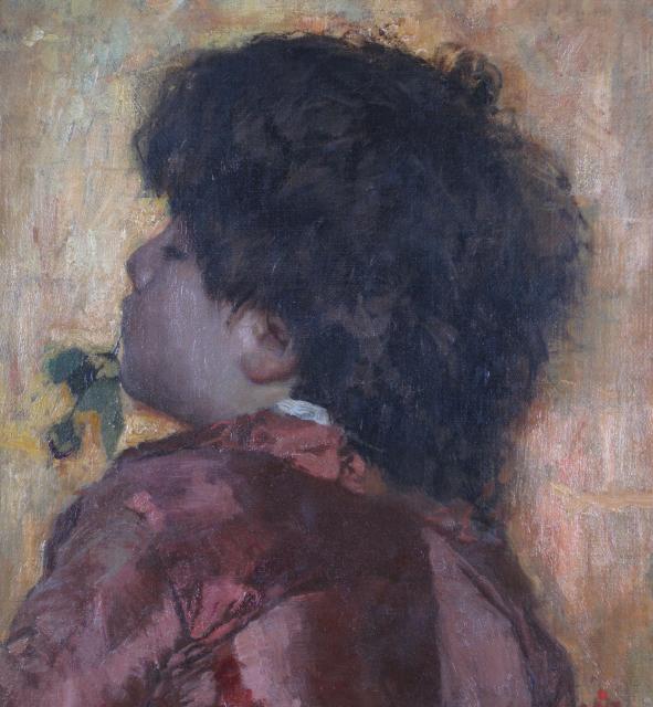 Antonio Mancini - Fanciullo con rosa in bocca